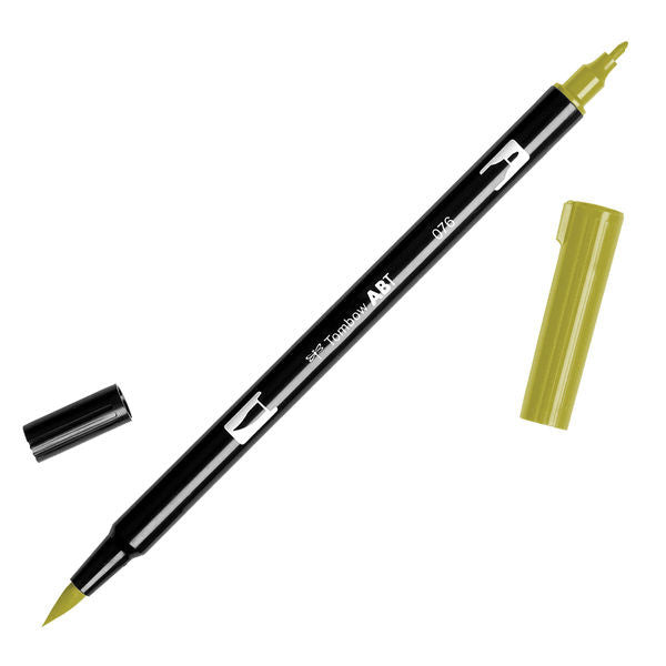 Tombow Dual Brush Pen - Green Ochre #076
