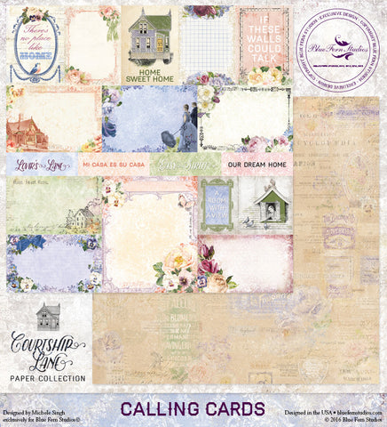 Blue Fern Studios - Courtship Lane - Calling Cards