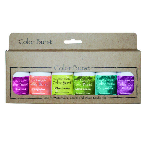 Ken Oliver Color Burst Powder 6/Pkg - Caribbean Brights