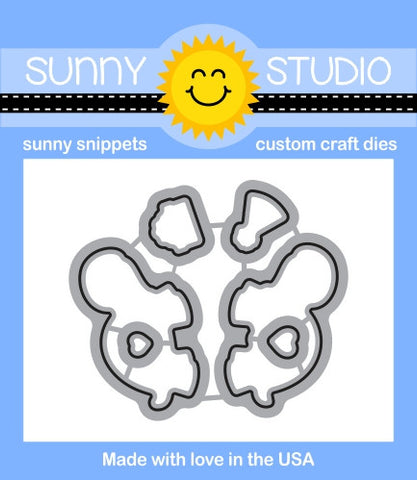 Sunny Studio - Sunny Snippets Dies - Turtley Awesome (coordinates with Turtley Awesome Stamp Set)