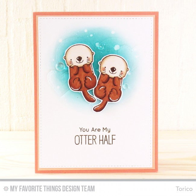 "My Favorite Things - 4""x8"" Clear Stamp Set - Otterly Love You"