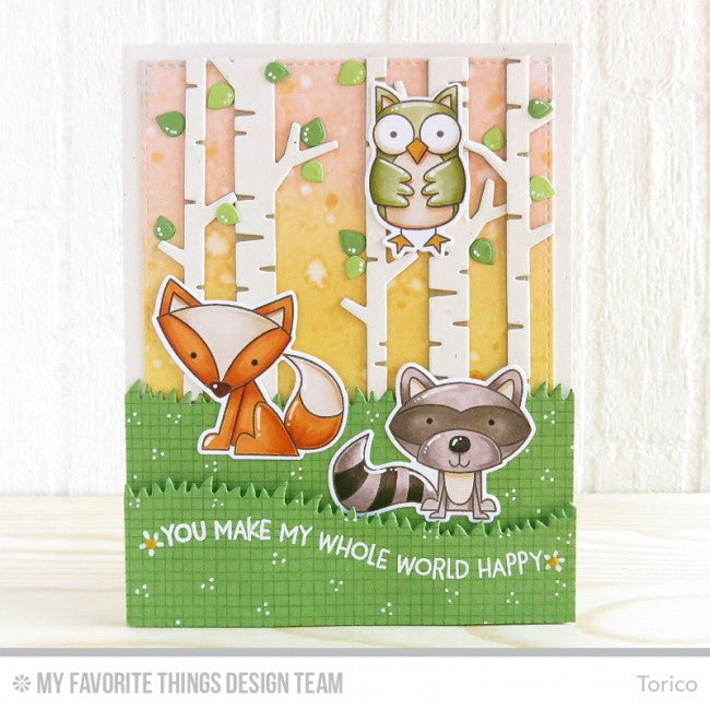 My Favorite Things - Clear Stamp Set - Critter Clan (coordinates with Critter Clan Die-namics)
