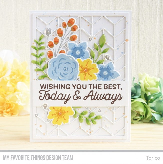 "My Favorite Things - 4""x8"" Clear Stamp Set - Big Birthday Wishes"