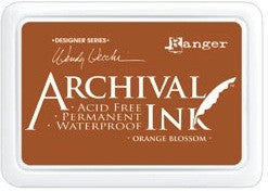 Ranger- Wendy Vecchi Designer Series Archival Ink Pad - Orange Blossom
