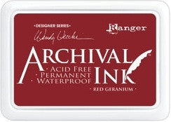 Ranger- Wendy Vecchi Designer Series Archival Ink Pad - Red Geranium