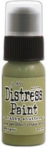 Ranger Tim Holtz Distress Paint 1oz Bottle - Shabby Shutters