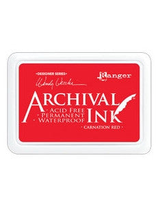 Ranger- Wendy Vecchi Designer Series Archival Ink Pad - Carnation Red