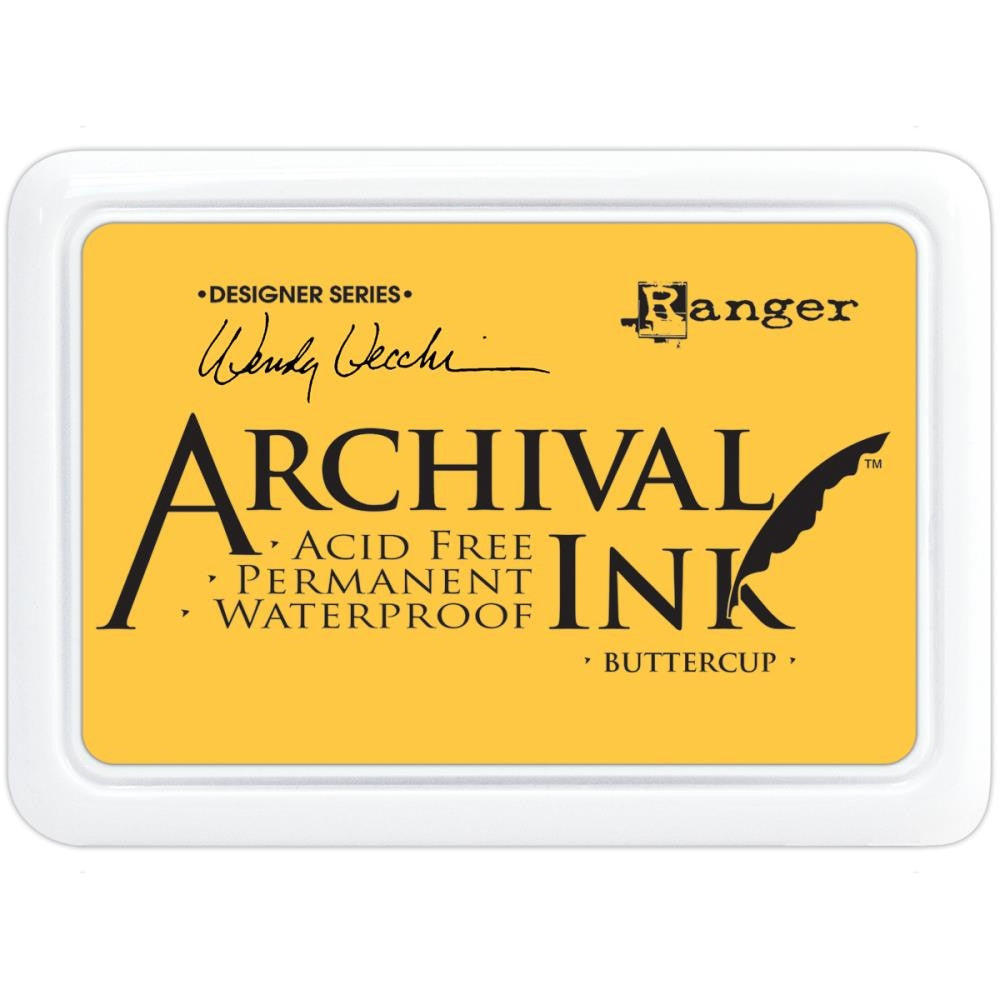 Ranger- Wendy Vecchi Designer Series Archival Ink Pad - Buttercup