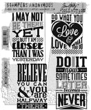 Stampers Anonymous - Tim Holtz Cling Stamps - Motivation 3
