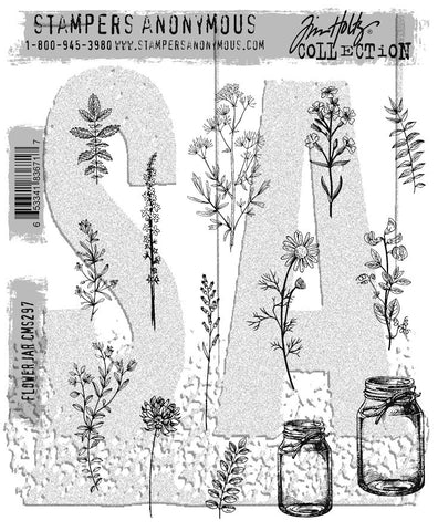 Stampers Anonymous - Tim Holtz - Cling Stamps - Flower Jar