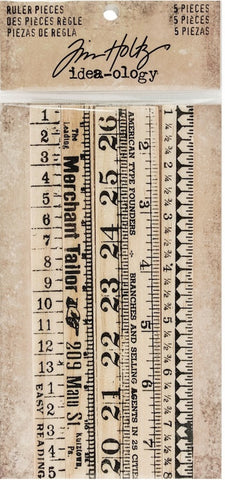 Tim Holtz - Idea-Ology Ruler Pieces (available 2/27)