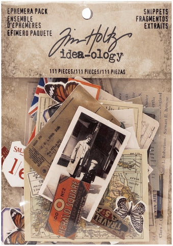 Tim Holtz - Idea-Ology Ephemera Pack - Snippets(available 03/01)