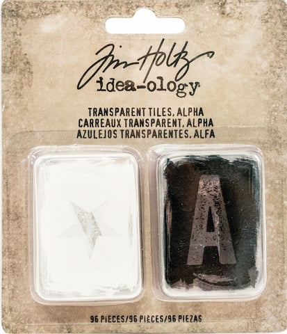 Tim Holtz - Idea-Ology Transparent Tiles - Alpha