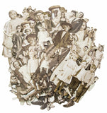 "(Pre order) Tim Holtz - Idea-Ology Layers Die-Cuts - Paper Dolls Vintage Black & White  .75"" To 5.5"""