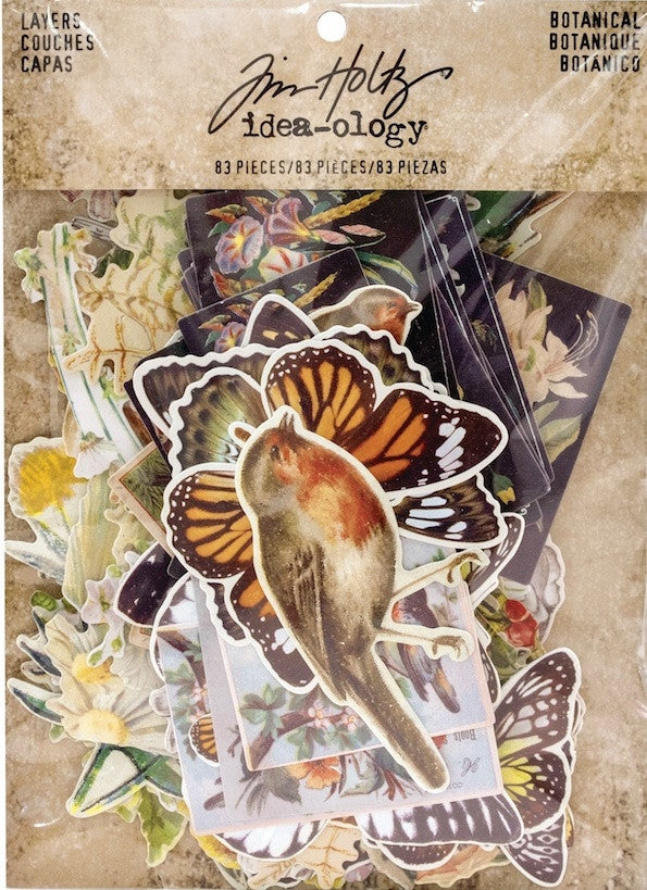 Tim Holtz - Idea-Ology Layers Die-Cuts - Botanical