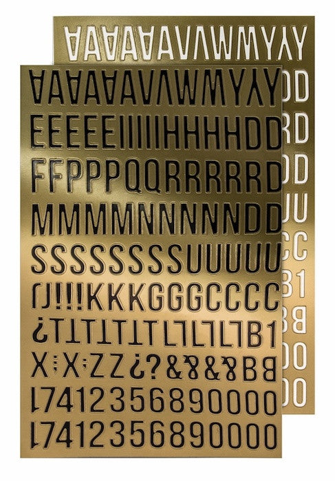 Tim Holtz - Idea-Ology Metallic Stickers - Alpha Gold