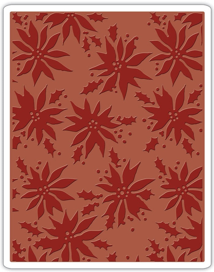 Sizzix - Texture Fades Embossing Folder By Tim Holtz - Poinsettias