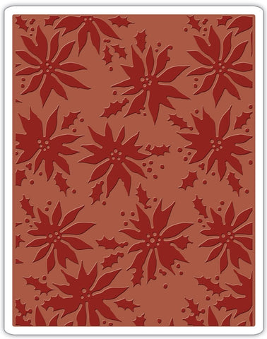 ***Pre-Order*** Sizzix - Texture Fades Embossing Folder By Tim Holtz - Poinsettias