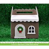 Lawn Fawn - Lawn Cuts Custom Craft Dies - Scalloped Treat Box Winter House Add-on