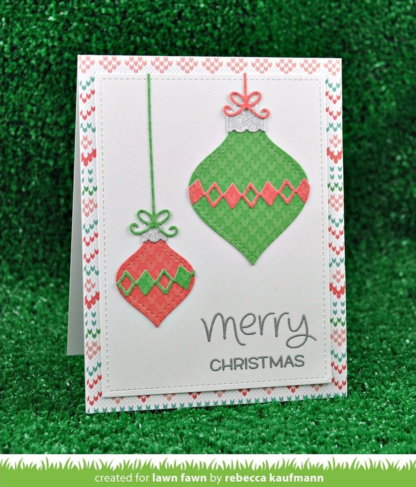 Lawn Fawn - Lawn Cuts Custom Craft Dies - Stitched Ornaments