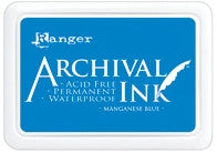 Ranger- Archival Ink Pad #0 - Manganese Blue