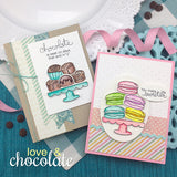 "Newton's Nook Designs - 4"" x 6"" Stamp Set - Love & Chocolate (coordinates with Love & Chocolate Dies)"