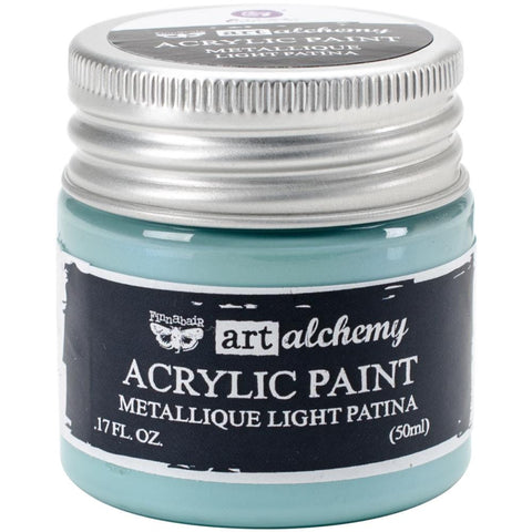 Finnabair Art Alchemy, Acrylic Paint 1.7 Fluid Ounces - Metallique Light Patina