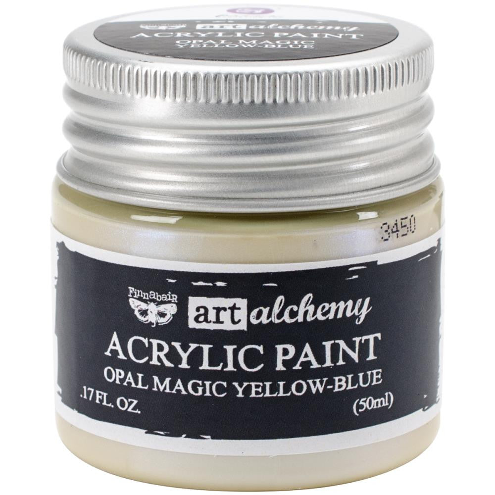 Finnabair Art Alchemy, Acrylic Paint 1.7 Fluid Ounces - Opal Magic Yellow/Blue