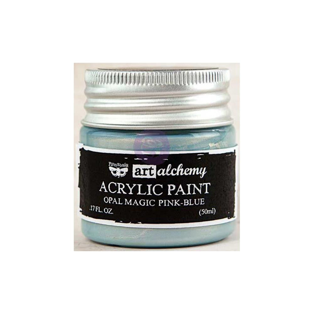 Finnabair Art Alchemy, Acrylic Paint 1.7 Fluid Ounces - Opal Magic Pink/Blue