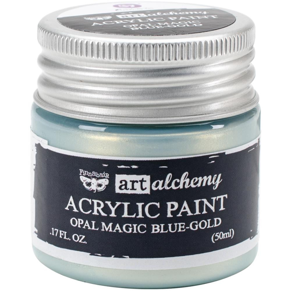 Finnabair Art Alchemy, Acrylic Paint 1.7 Fluid Ounces - Opal Magic Blue/Gold