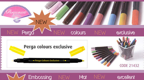 ***New Item*** Pergamano - Perga Color Marker Set
