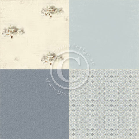 "Pion Designs Paper - Days of Winter 6"" x 6"" Designs (4 designs on 12"" x 12"" papers) - Church"