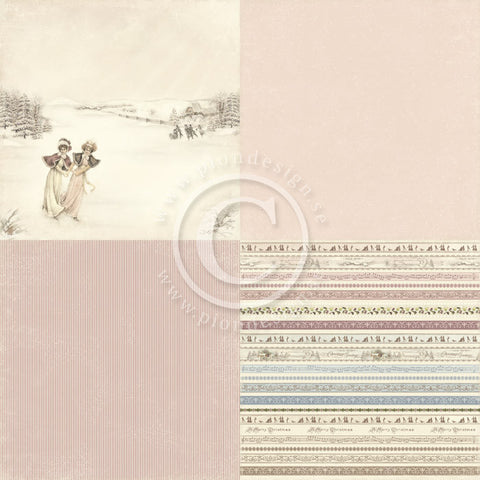 "Pion Designs Paper - Days of Winter 6"" x 6"" Designs (4 designs on 12"" x 12"" papers) - Lilly & Siri"
