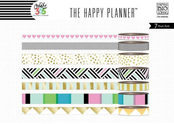 Me & My Big Ideas - Create 365 The Happy Planner Washi Tape - Black & White