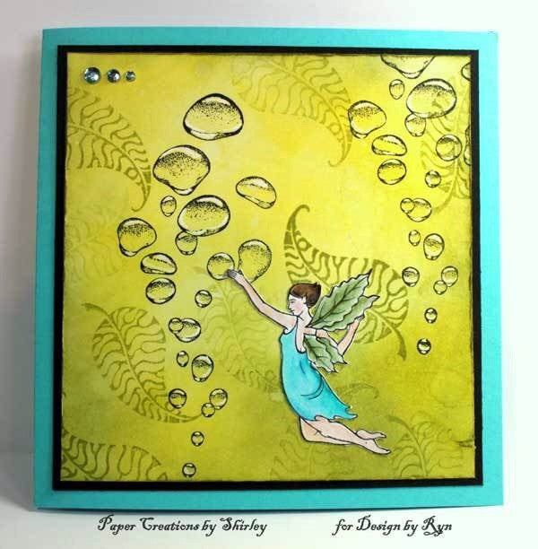 "Designs by Ryn Unmounted Red Rubber Stamp Sheet 8.5"" x 11"" - Faeries"