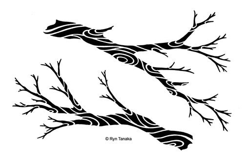 "Designs by Ryn Stencils 6"" x 9"" - Flowing Branches"