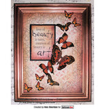 "Darkroom Door - Cling Stamps 3""x2"" - Butterfly"