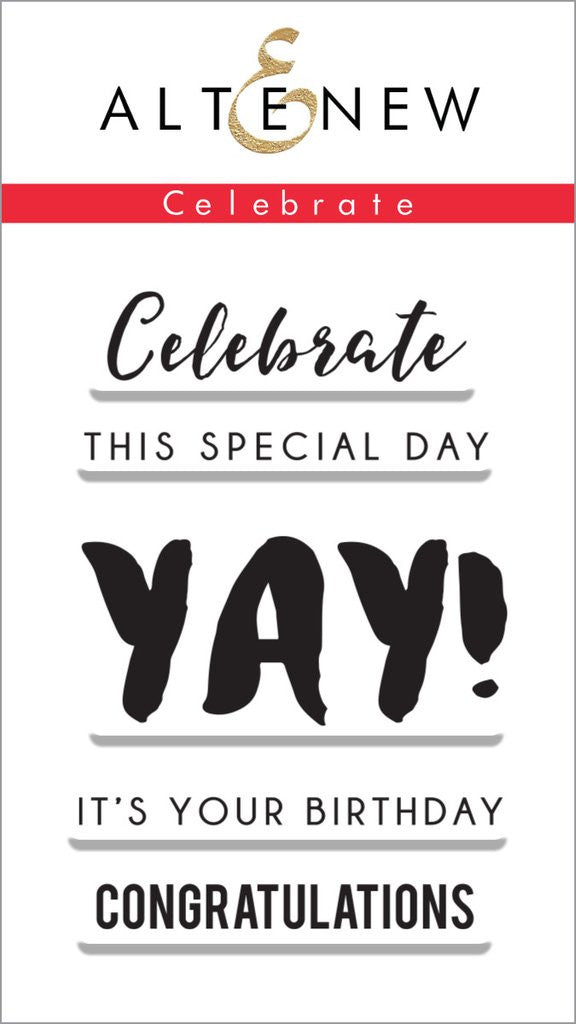 "Altenew - 2"" x 3"" Stamp Set - Celebrate"