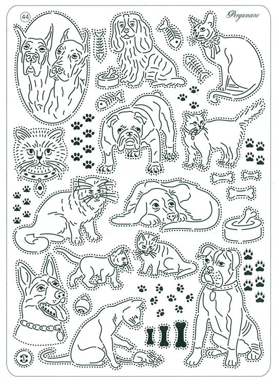 Pergamano -  Multi Grid #44 - Cats and Dogs