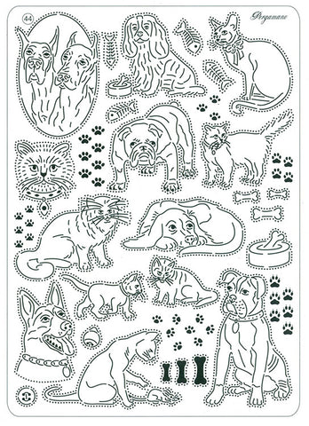 ***New Item*** Pergamano -  Multi Grid #44 - Cats and Dogs