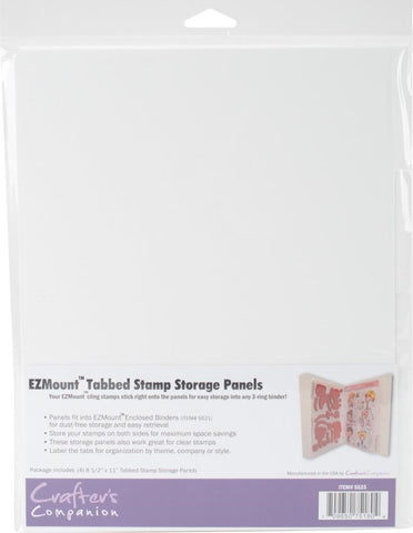 "Crafter's Companion - EZMount Tabbed Stamp Storage Panels 4/Pkg - 8.5"" x 11"""