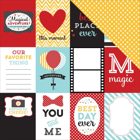 "***New Item*** Echo Park Paper - Magical Adventure Double-Sided Cardstock 12""x12"" - Journaling Cards 3""X4"""
