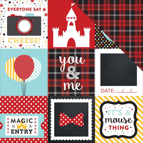 "***New Item*** Echo Park Paper - Magical Adventure Double-Sided Cardstock 12""x12"" - Journaling Cards 4"" x 4"""