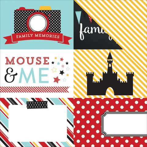 "***New Item*** Echo Park Paper - Magical Adventure Double-Sided Cardstock 12""x12"" - Journaling 4"" x 6"""