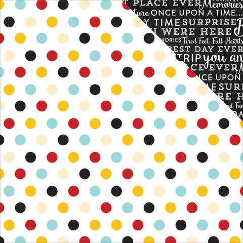"***New Item*** Echo Park Paper - Magical Adventure Double-Sided Cardstock 12""x12"" - Multi Dots"