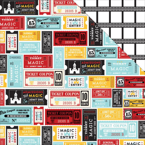 "***New Item*** Echo Park Paper - Magical Adventure Double-Sided Cardstock 12""x12"" - Magical Tickets"