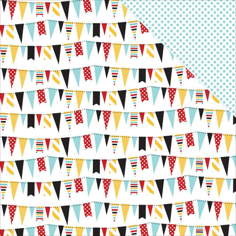 "***New Item*** Echo Park Paper - Magical Adventure Double-Sided Cardstock 12""x12"" - Festive Banners"