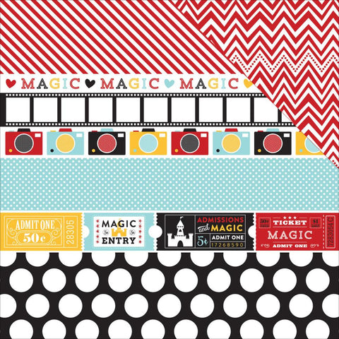 "Echo Park Paper - Magical Adventure Double-Sided Cardstock 12""x12"" - Border Strips"