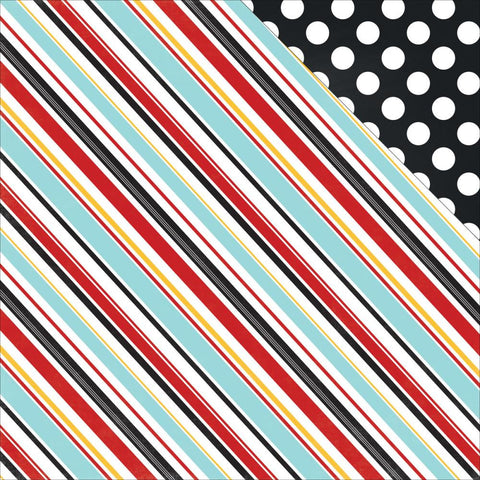 "***New Item*** Echo Park Paper - Magical Adventure Double-Sided Cardstock 12""x12"" - Silly Stripes"