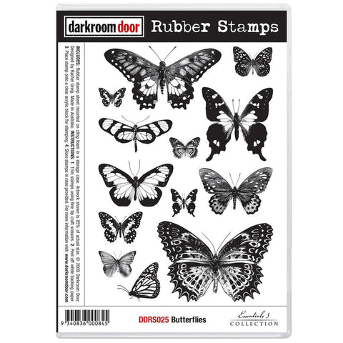 "Darkroom Door - Cling Stamps 7""x5"" - Butterflies"